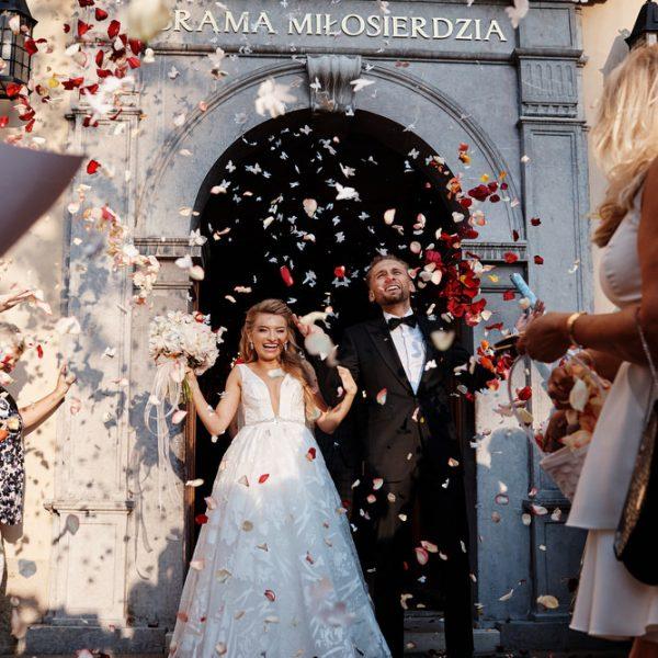 Ślub w stylu glamour, czyli  bajkowe wesele Kasi i Piotra